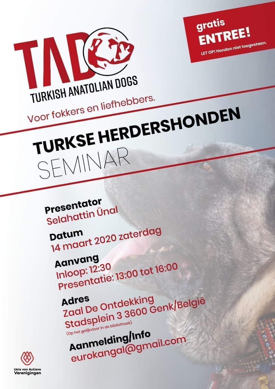 Seminarie Turkse Herdershonden