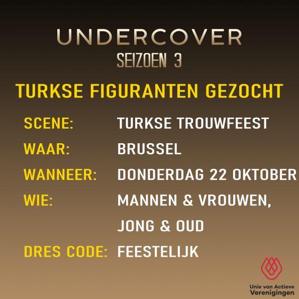 Figuranten gezocht: Undercover seizoen 3