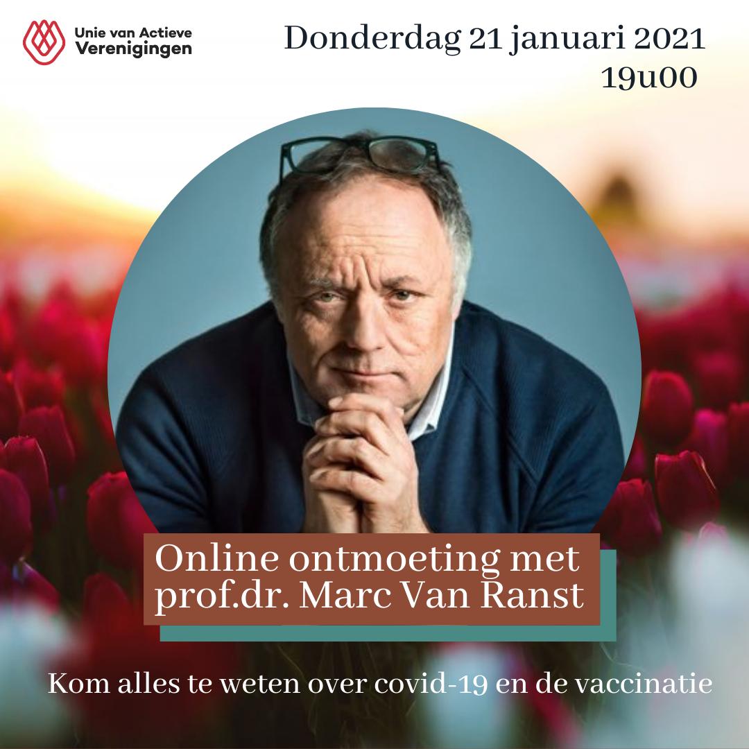 Online ontmoeting met prof.dr. Marc Van Ranst